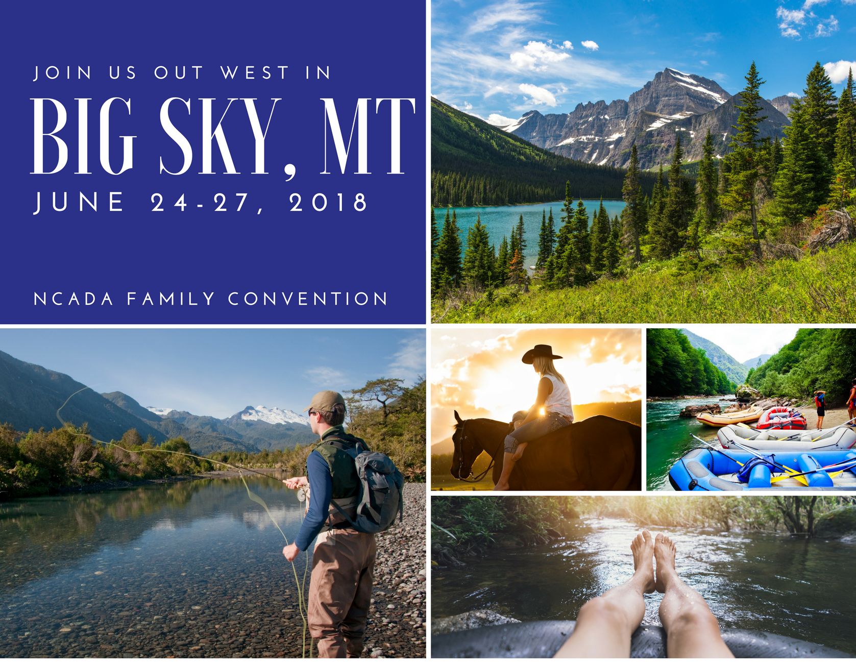 SAVE THE DATE Big Sky Collage