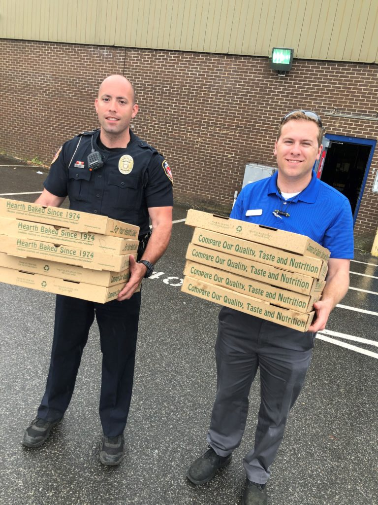 Pizza Delivery to Durham Fire Department in wake of gas explosion